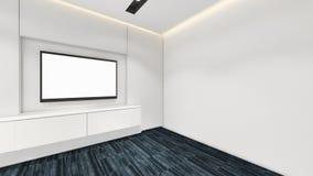 Modern Empty Room, 3d render interior design, mock up illustrati Royalty Free Stock Image