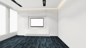 Modern Empty Room, 3d render interior design, mock up illustrati Stock Images