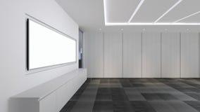 Modern Empty Room, 3D render interior design, mock up illustrati. On Royalty Free Stock Photos
