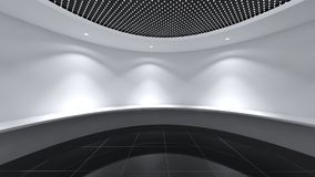 Modern Empty Room, 3D render interior design, mock up illustrati. On Stock Photos