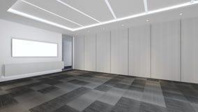 Modern Empty Room, 3D render interior design, mock up illustrati. On Stock Images