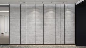 Modern Empty Room, 3D render interior design, mock up illustrati. On Royalty Free Stock Images