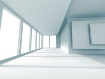 Modern Empty Room With Large Window Royalty Free Stock Photos