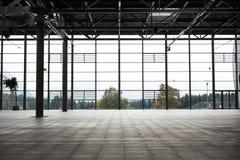 Modern empty show room stock photo