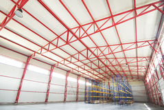 Modern empty storehouse Stock Image