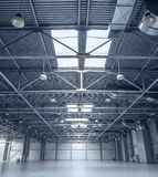 Modern empty storehouse Royalty Free Stock Image