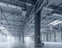 Modern empty storehouse Stock Images