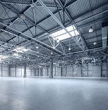 Modern empty storehouse Royalty Free Stock Photo