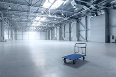 Modern empty storehouse royalty free stock photography