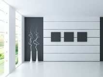 Modern Empty White Room   Architecture Interior Stock Images