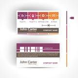 Modern en eenvoudig licht adreskaartjemalplaatje in minimale stijl Stock Fotografie