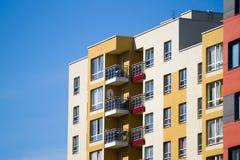 Modern en nieuw flatgebouw. Royalty-vrije Stock Afbeeldingen