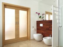 Modern en suite bathroom Stock Image