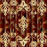 Modern en uitstekend patroon Royalty-vrije Stock Afbeeldingen