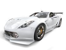 Modern endurance white sportscar. Isolated on white background Stock Photography