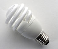 Modern energy saving light bulbs Royalty Free Stock Images