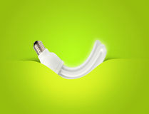 A modern energy-saving lightbulb ideal for ecology Royalty Free Stock Images