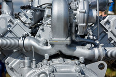 Modern engine closeup Stock Photo