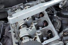 Modern engine repairing Royalty Free Stock Photo