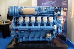 Modern engine used on marine industry Stock Image