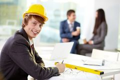 Modern engineer Stock Photos