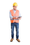 Modern engineer using a tablet Royalty Free Stock Photos