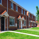 Modern english brick houses Stock Images