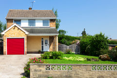 Modern english house Stock Images