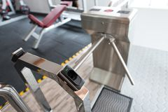 Entrance Close-up In Gym Fitness Center Royalty Free Stock Images