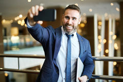 Modern entrepreneur Stock Images