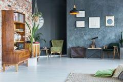 Modern entworfene Wohnung stockbilder