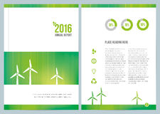 Modern Environmental Annual Report Cover Design Royalty Free Stock Photography