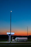 The modern, environmentally friendly and safe fueling at sunset. Stock Photos