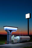 The modern, environmentally friendly and safe fueling at sunset. Stock Images