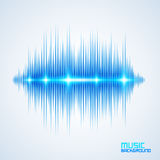 Modern equalizer. Modern glowing equalizer. Background for music themes Stock Photography