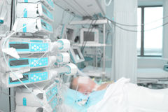 Modern equipment in intensive care Royalty Free Stock Photo