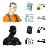 Modern equipment and other web icon in cartoon,black style.Machine tools and equipment factory icons in set collection. Modern equipment and other  icon in Royalty Free Stock Images