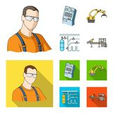 Modern equipment and other web icon in cartoon,flat style.Machine tools and equipment factory icons in set collection. Modern equipment and other  icon in Royalty Free Stock Images