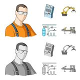 Modern equipment and other web icon in cartoon,monochrome style.Machine tools and equipment factory icons in set. Modern equipment and other  icon in cartoon Stock Photo