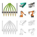 Modern equipment and other web icon in cartoon,outline style.Machine tools and equipment factory icons in set collection. Modern equipment and other  icon in Royalty Free Stock Photo