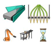 Modern equipment and other web icon in cartoon style.Machine tools and equipment factory icons in set collection. Modern equipment and other  icon in cartoon Stock Image