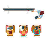 Modern Equipped Class From Above Royalty Free Stock Images