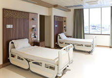 Modern empty hospital room stock photography