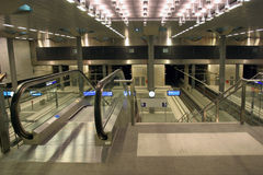 Modern escalator Stock Images
