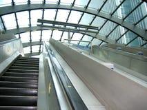 Modern escalator royalty free stock photography