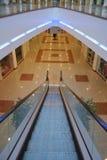 Modern escalator. In shopping center building Stock Photo