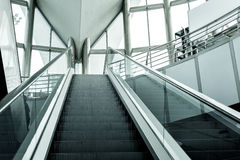Modern escalator background Stock Image