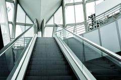 Modern escalator background Stock Image