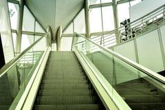 Modern escalator background Stock Photo