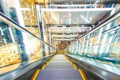 Modern escalator royalty free stock photo